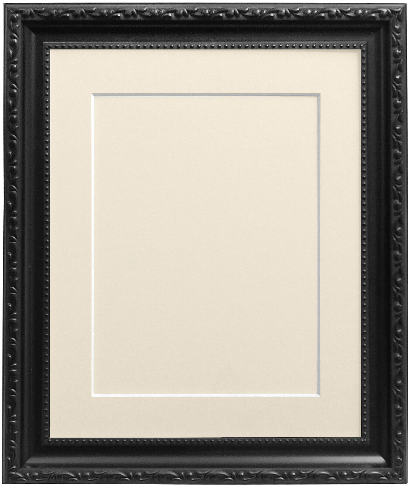 Black Shabby Chic Photo Picture Frames with Mount Backing Board ...
