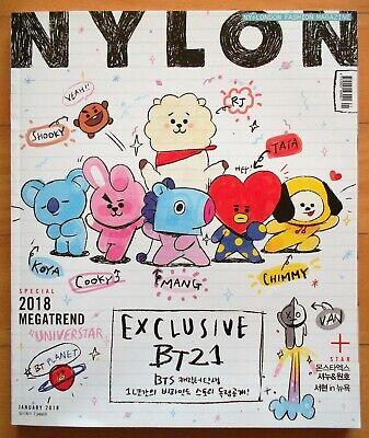 BTS BT21 Monsta X  SHOWNU WONHO--Whole Magazine/Nylon Korea/Jan.2018 Tracking