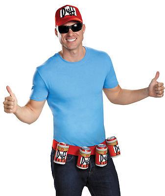 Duffman Kostüm (Duffman Ball Cap Hat Kit Adults Costume Beverage Belt Disguise)