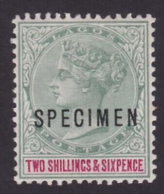 Lagos. SG 39s, 2/6 green & carmine, specimen. Mounted mint.