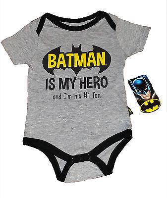 LAST ONE~BATMAN BABY CREEPER~SIZE 6/9 MO~BATMAN IS MY HERO AND I'M HIS #1 - Batman And Baby