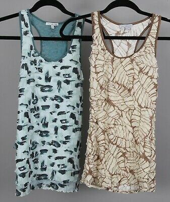 Two Sleeveless Tops (TWO Charlotte Russe Sleeveless Stretch Ruffled Tops Women's S )
