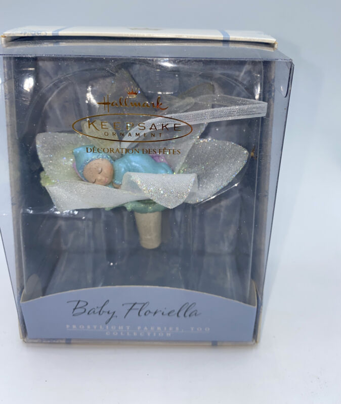 Hallmark Frostlight Faeires Collection Baby Floriella Lighted Ornament 2002~Gift