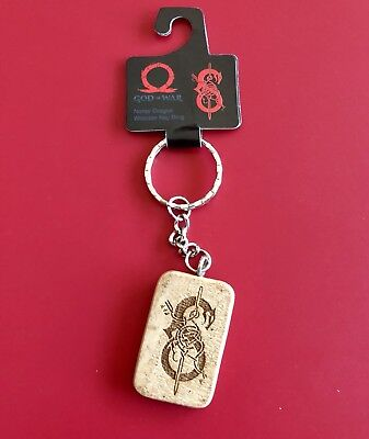 PlayStation Experience PSX God of War Norse Dragon Wooden Keychains Key Ring