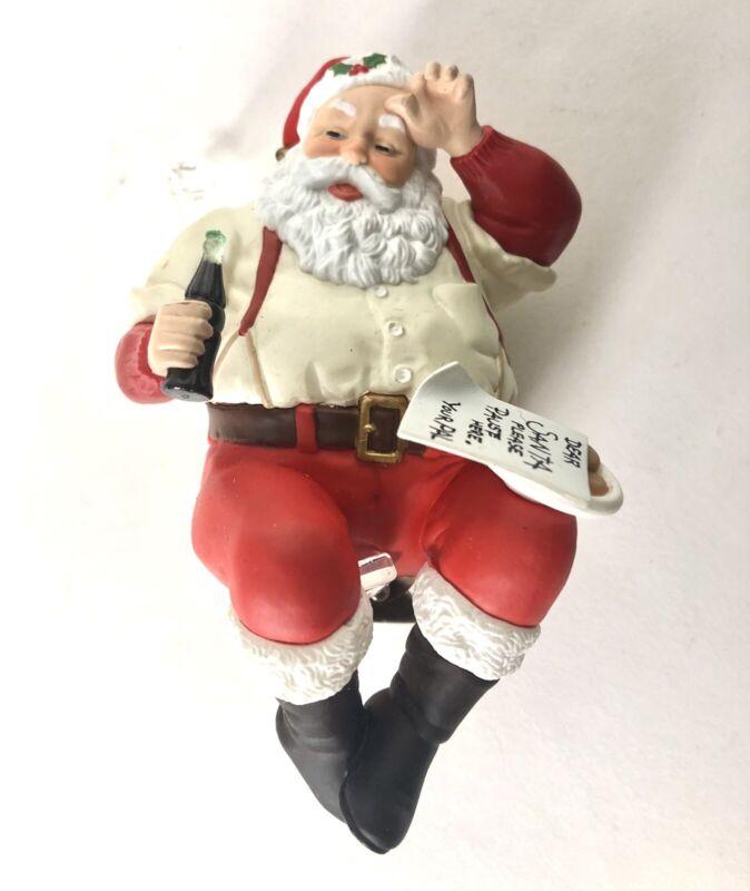 HALLMARK Keepsake 1992 PLEASE PAUSE HERE Santa Coca Cola CHRISTMAS ORNAMENT
