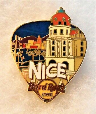 HARD ROCK CAFE NICE GREETINGS FROM GUITAR PICK SERIES PIN # 96586