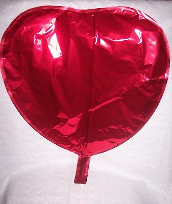 RED HEART SHAPE MYLAR HELIUM BALLOONS 3 PIECES=FOIL-  PARTY -BIRTHDAY - 18