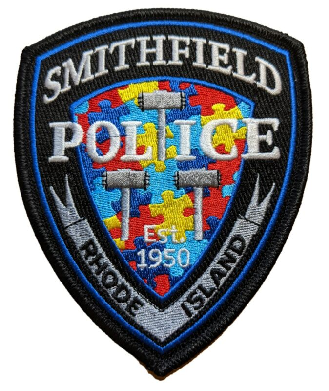 Smithfield RI Police Autism Awareness Patch - Silver version 2021