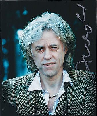 Bob GELDOF SIGNED Autograph Signed Photo AFTAL COA Boom Town Rats Band Aid -
