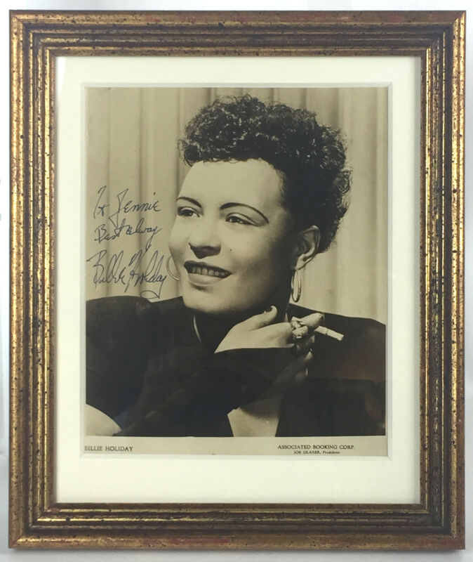 Billie HOLIDAY: Signed Photograph with Cigarette in Hand