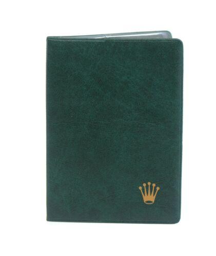 Rolex Green Passport Wallet Holder