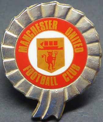 MANCHESTER UNITED FC Vintage insert badge Maker COFFER LONDON 32mm x 37mm