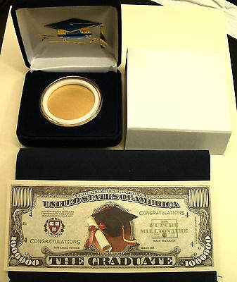 **GRADUATION DAY PKG!** Your Own For Silver Eagle Coin-NO COIN INCUDED+EXTRAS!