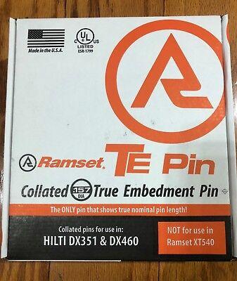Ramset Te34x .157 True Embedment Te Pin 34 Fastener 1000 Pc. Dx351 Dx460 New