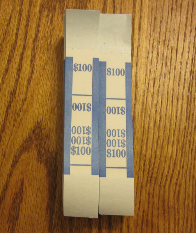 400 SELF SEALING CURRENCY STRAPS MONEY BILL BANDS STRAP PMC COMPANY $100 /& $500