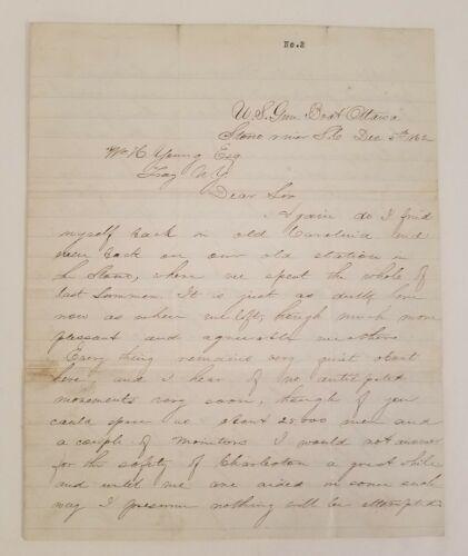 CIVIL WAR AUTOGRAPH LETTER SIGNED: 1862 Rear Admiral Franklin Prindle US Navy