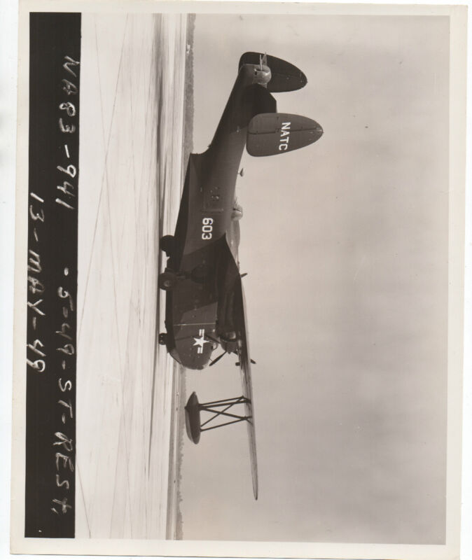 1949 Restricted US Navy Photograph of NATC Airplane