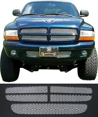 CCG SILVER MESH GRILL INSERTS FOR 97-03 DODGE DAKOTA/DURANGO GRILLE DIAMOND XXL