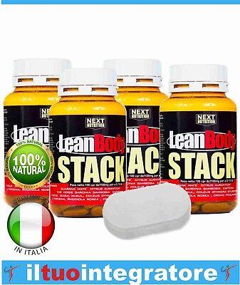 Perdere Peso Grasso Velocemente Bruciagrassi Dimagrante + porta pillole 4 BOX
