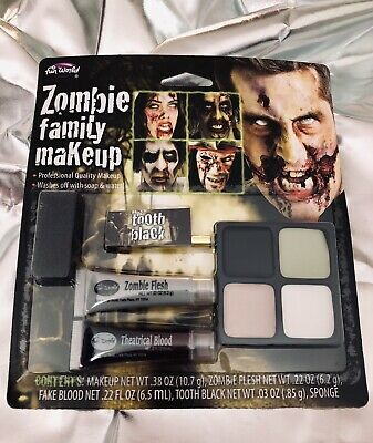 NEW Fun World Theatrical ZOMBIE FAMILY MAKEUP KIT Non-toxic Professional Quality - Theatrical Quality Costumes Halloween