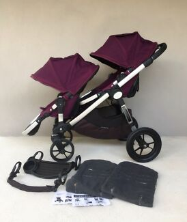 City select double pram with accessories