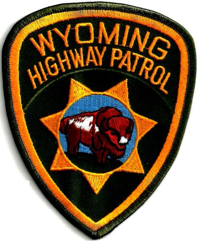WYOMING HIGHWAY PATROL - SHOULDER PATCH - IRON OR SEW-ON PATCH