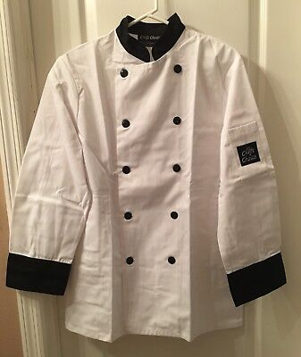 Professional Chef Jacket Coat New Small Long Sleeve Chefs Choice 5370 Bl