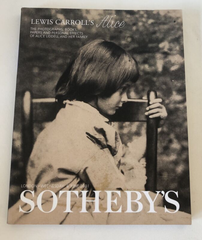 Sotheby's 2001 Auction Catalog Alice In Wonderland Lewis Carroll Liddell Family