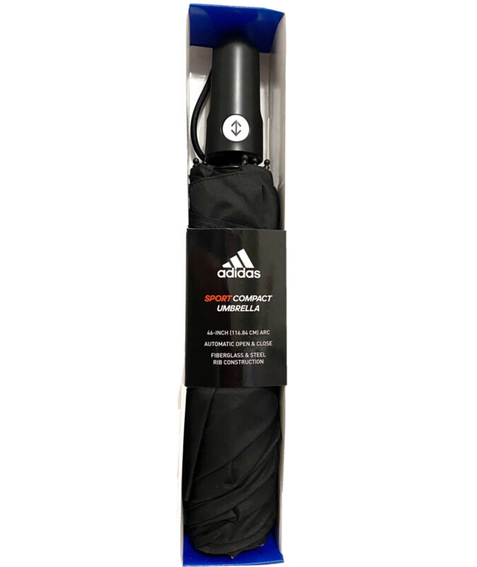 "Umbrella Adidas Golf Black Sport 46"" Auto Open Limited Edition Black+White"