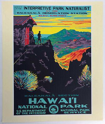 Yellowstone 1938 National Park Service WPA Ranger Naturalist Travel Poster 18x24