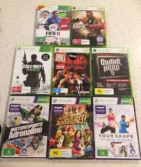 XBOX 360 Bundle with Kinect & Games