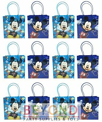 ags, Disney Mickey Mouse Party Favor Goodie Bags Gift Bags (Mickey Goodie Bags)