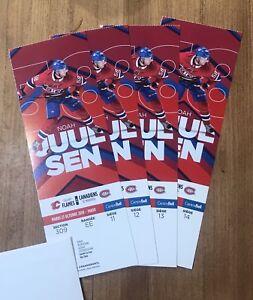 Canadiens vs Calgary 4 billets