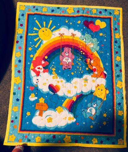 Homemade Care Bear Quilt for Baby Or Toddler