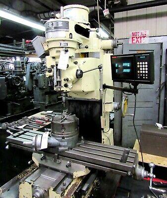 Siber Hegner Model Rb1 2hp Milling Machine 42 Table Digital Readout