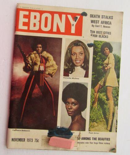 Ebony Magazine Nov. 1973 Tamara Dobson, Cover /S. Ray