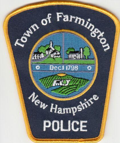 FARMINGTON NEW HAMPSHIRE POLICE SHOULDER PATCH NH