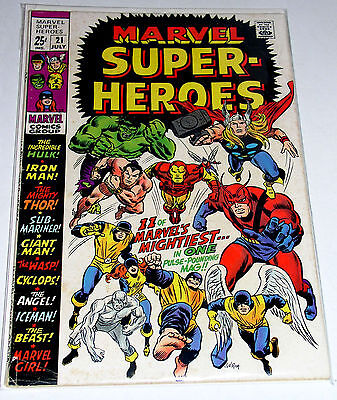 MARVEL SUPER-HEROES #21  1969 THE AVENGERS AND THE X-MEN REPRINTS