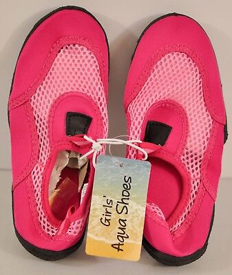 young girl's water shoes size 13-1 hot pink mesh fit 8