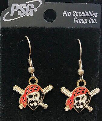 Pittsburgh Pirates Logo J Hook Earrings (Pittsburgh Pirates Logo Earrings)