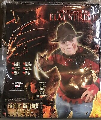 Freddy Krueger PLUS SIZE Adult Medium Costume Nightmare On Elm Street