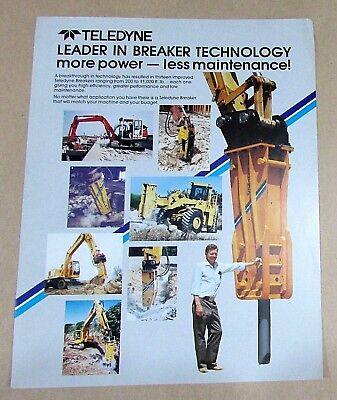 Teledyne Cm Hydraulic Breaker Hammer Construction Equip 1 Pg Brochure Free Sh