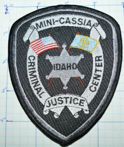 IDAHO, MINI-CASSIA CRIMINAL JUSTICE CENTER SHERIFF POLICE CORRECTIONS PATCH