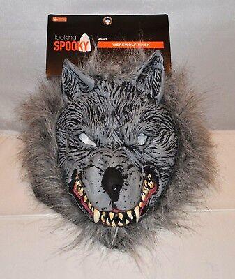 Wolf Full Mask Werewolf Head Animal Halloween Decoration Party Adult Costume NEW - Werewolf Halloween Decorations