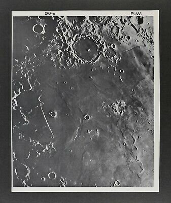 1960 Lunar Moon Map Photo Nubium S. D6-e Mount Wilson Observatory W464 Astronomy