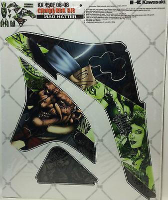 AMR Racing Graphic Kit Sale For Kawasaki KX 450F 2006-2008 MAD HATTER GREEN](Mad Hatter For Sale)