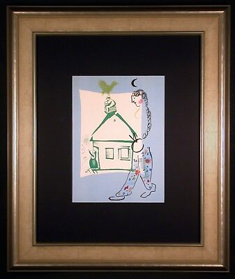 House in My Village Orig Lithograph by Marc CHAGALL