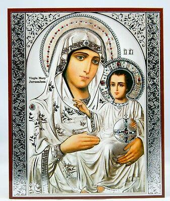 Holy Virgin Mary Of Jerusalem Orthodox Russian  Icon Mary Jesus Ikone