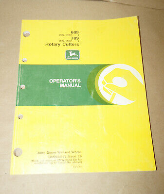 1996 John Deere Model 609 709 Rotary Cutter Operators Manual Pn Omw44172 E6