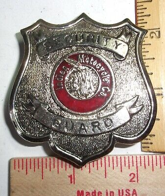 vintage Indian motorcycle security badge collectible old USA cycle memorabilia